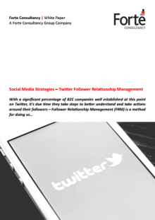 Social Media Strategies – Twitter Follower Relationship Management